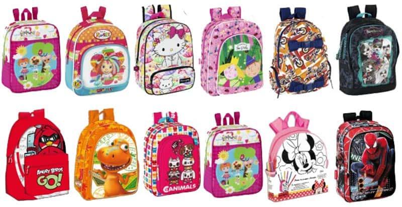 mochilas dibujos animados
