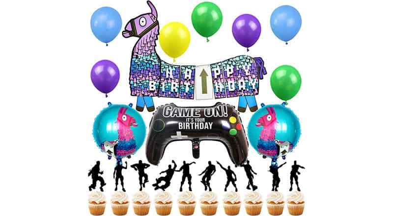 decoracion para cumpleaños fortnite