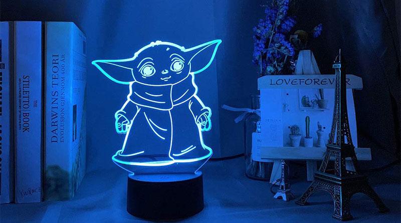 la lampara 3d baby yoda mas vendida