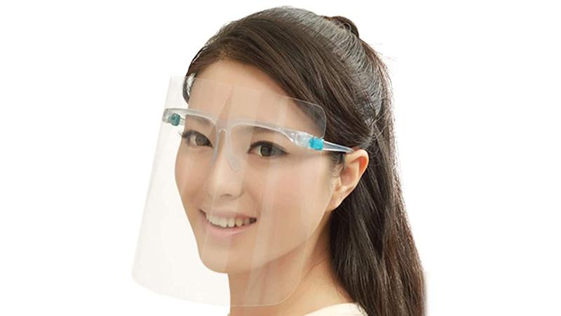 Protector facial completo con Gafas baratas