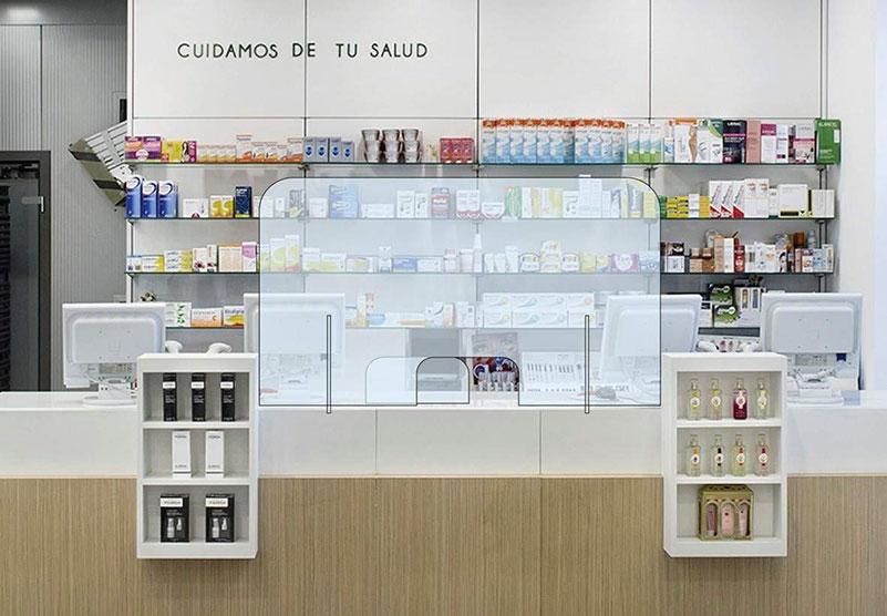 mampara farmacia protectora