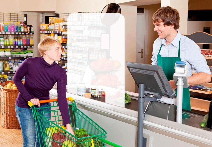 mampara supermercado proteccion coronavirus