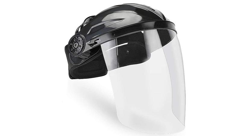 pantallas transparentes con casco