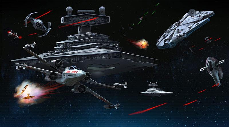 naves de la guerra de las galaxias