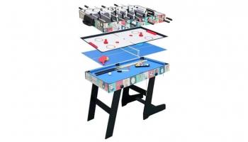 HLC Mesa Multijuegos 4 en 1 Plegable